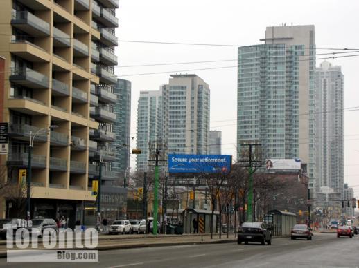 Spadina Avenue view south to King Street West