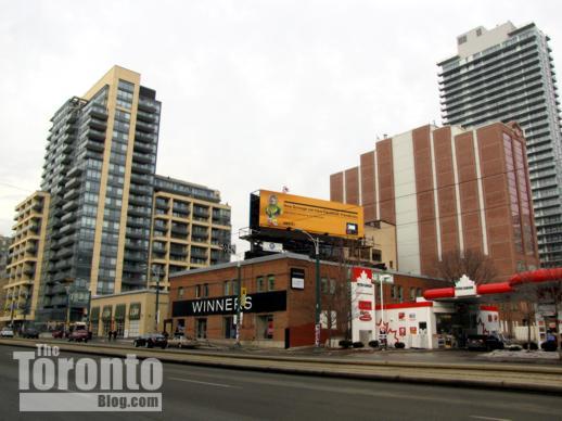 East side of Spadina Avenue below King Street West
