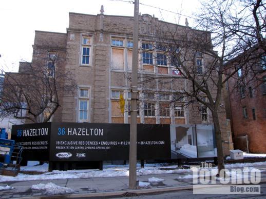 36 Hazelton condo building site