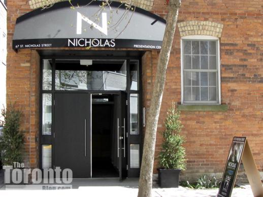 Nicholas Residences condo sales centre at 67 St Nicholas Street