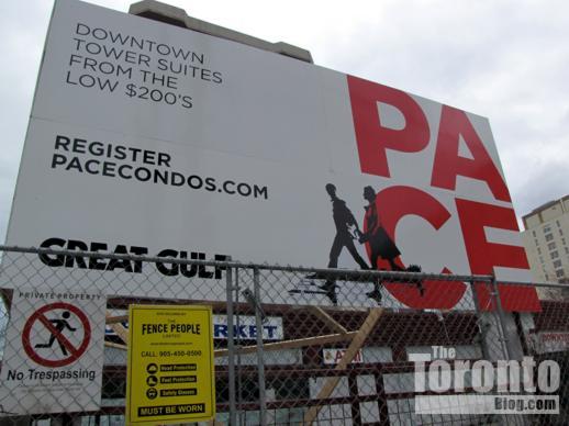 Pace Condos marketing billboard