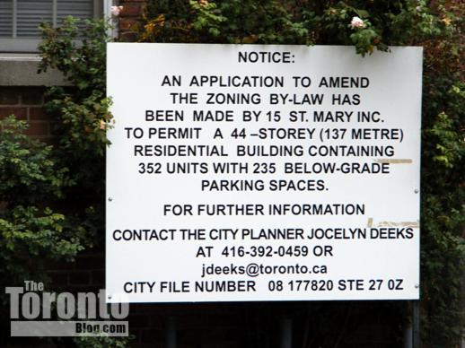 Nicholas Residences development proposal sign