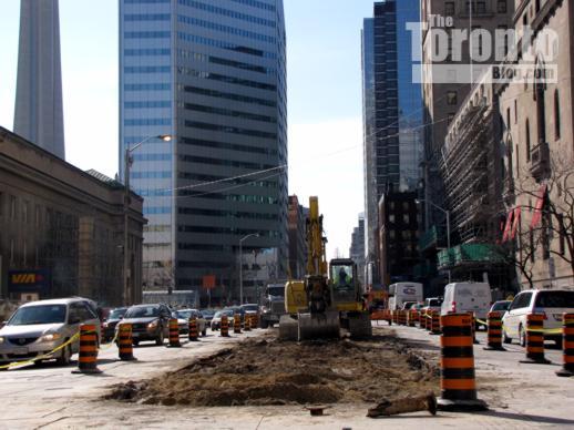 Front Street West median demolition