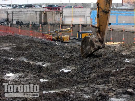 Milan condo tower excavation