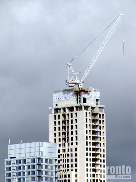Uptown Residences construction crane
