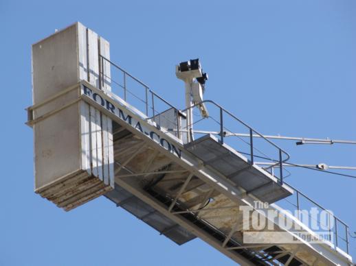 ounterweight of a construction crane