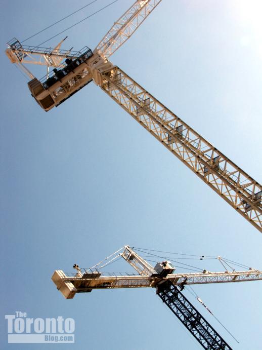 Women's College Hospital construction cranes