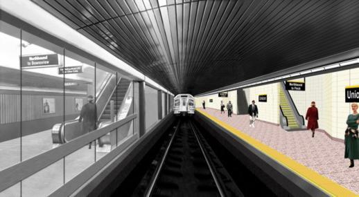 New Union Station subway station platforms