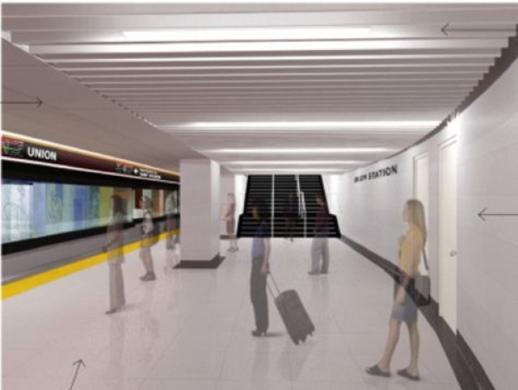 Illustration of new subway platform at Union Station