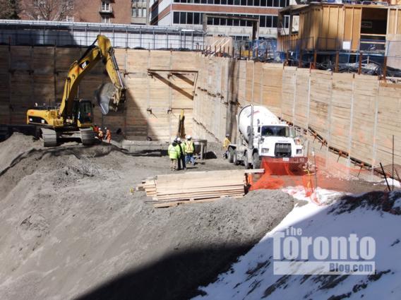 Women's College Hospital construction site