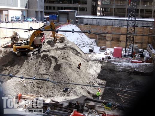 Women's College Hospital construction site excavation
