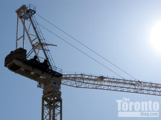 Women's College Hospital construction crane