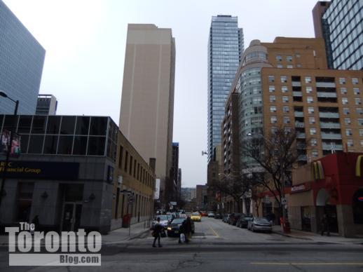 Yonge Street view west down Grenville Street