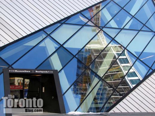 Royal Ontario Museum reflecting Museum House condos