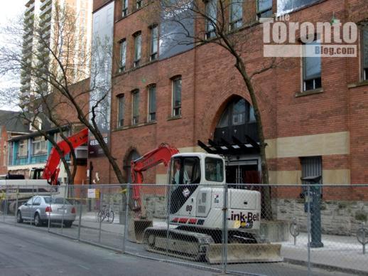 Demolition equipment at 5 St Joseph Street