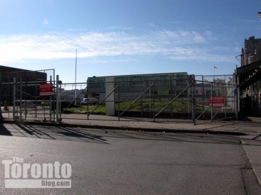 Harbourfront Centre construction area