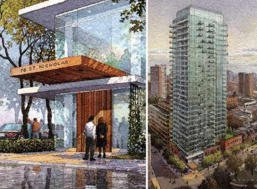 Nicholas Residences condo building rendering