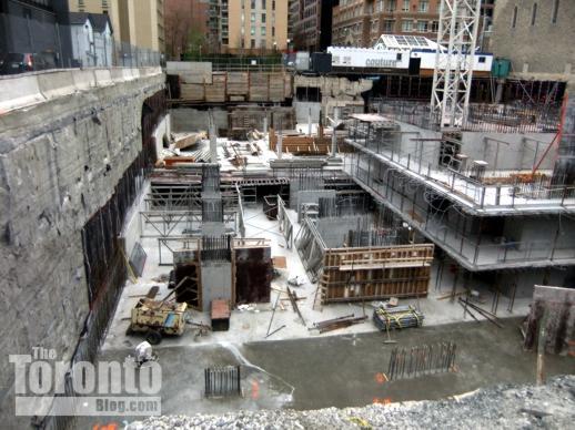Couture Condominium foundation construction