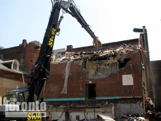 Demolition activity on St Joseph Street