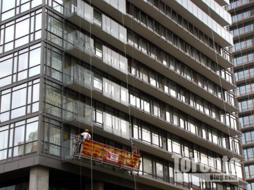 Murano condo north tower balcony panel removal