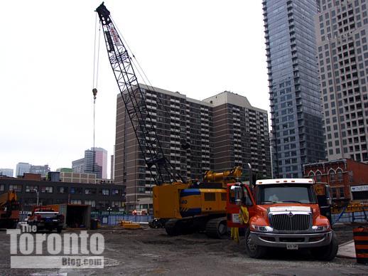 One Bloor Toronto condo tower construction site