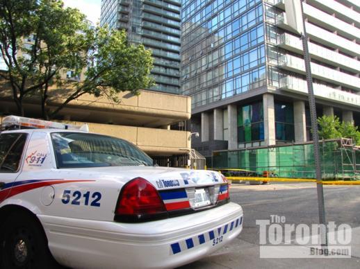 Police car on Grosvenor Street Toronto