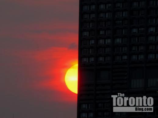 Toronto sunset July 20 2011