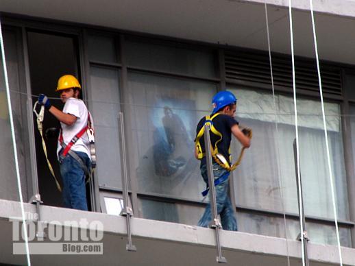 Balcony glass removal from Murano north condo tower