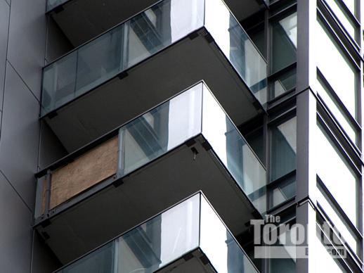 Murano condo wood balcony panel