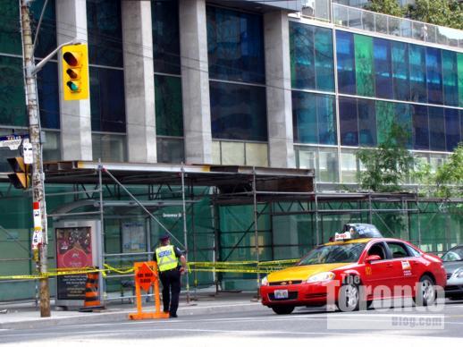 Police outside Murano north condo tower Toronto