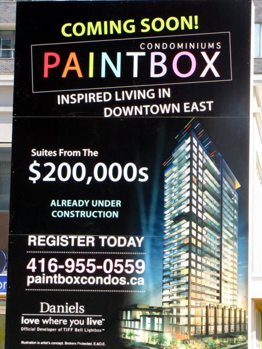 Paintbox Condominiums billboard
