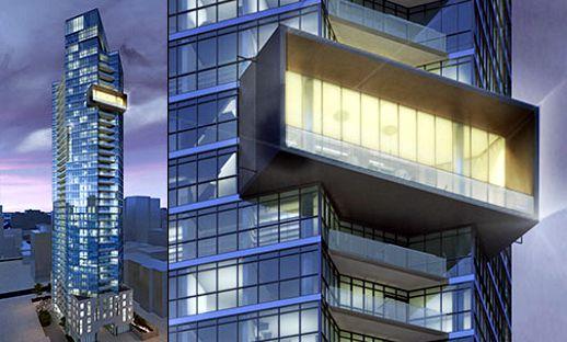 Rendering of Chaz on Charles condominium tower