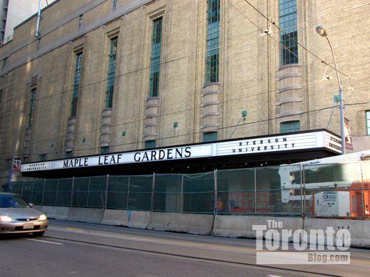Maple Leaf Gardens marquee Carlton Street Toronto