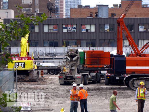 One Bloor East Toronto condo construction site