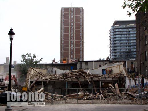 Demolition of 15-25 St Joseph Street Toronto