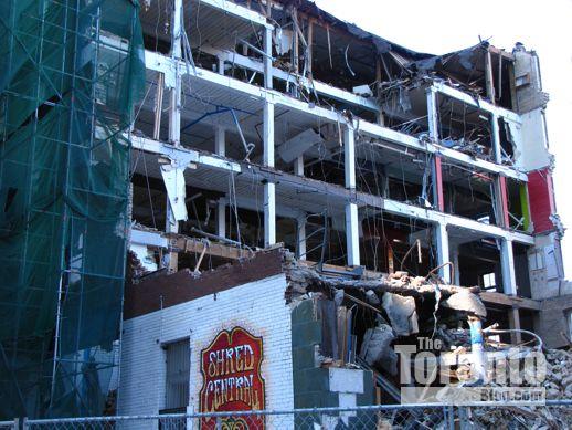 Demolition of 19 and 25 St Joseph Street