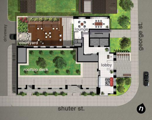 02 Maisonettes on George building amenities illustration