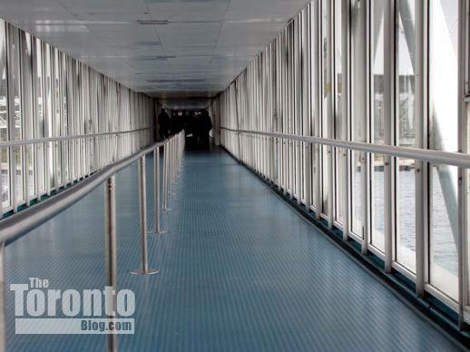 a walkway at Ontario Place