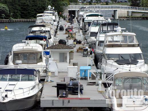 boats at the Ontario Place marina