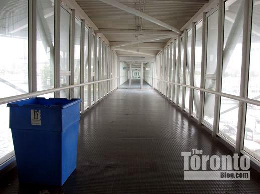 an enclosed walkway at Ontario Place I