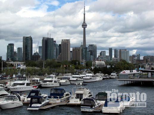 Toronto skyline viewed from Ontario Place