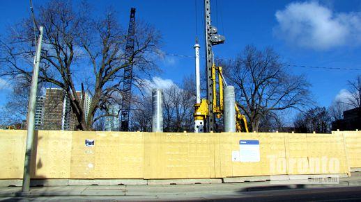 Watermain infrastructure work at Allan Gardens