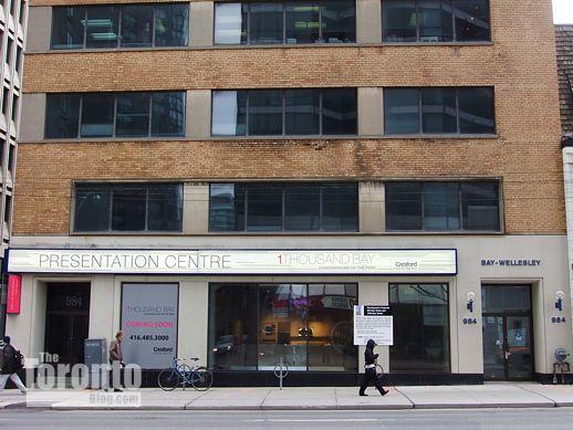 984 Bay Street 1Thousand Bay sales centre
