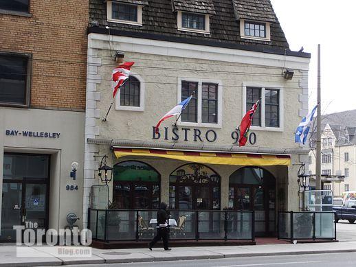 Bistro 990 restaurant at 990 Bay Street Toronto