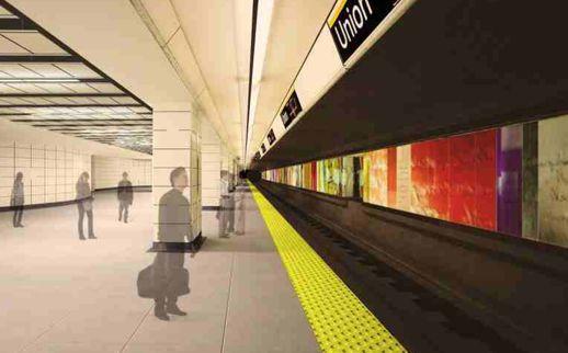 Union subway station south platform