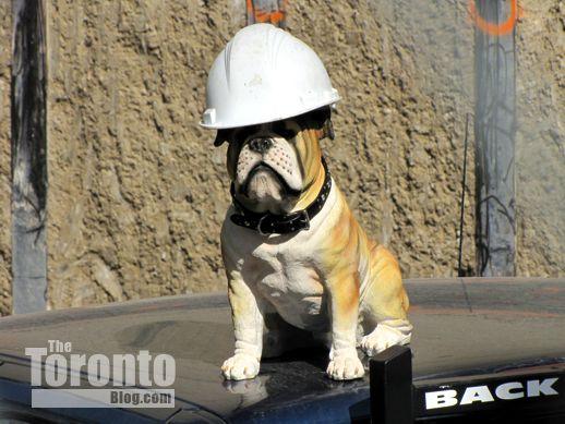 Theatre Park condo project canine mascot
