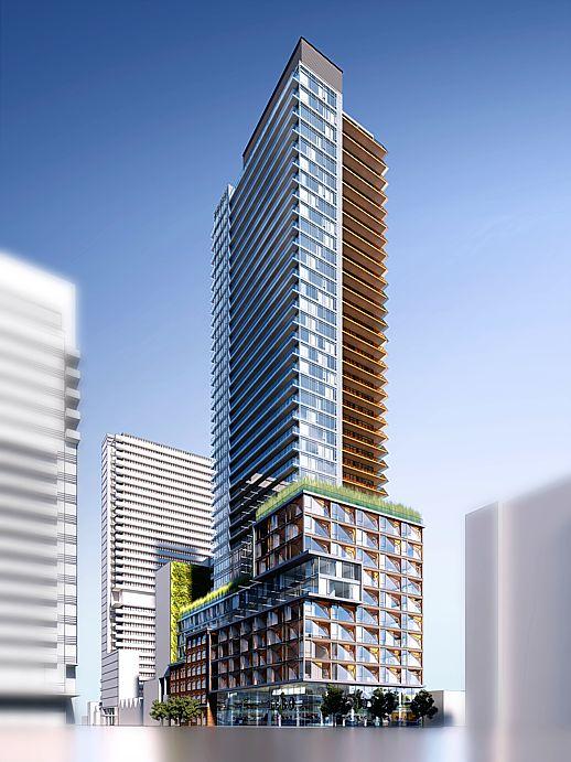401 King West  original redevelopment proposal rendering