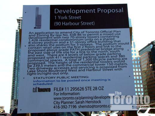 90 Harbour Street development proposal sign