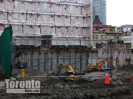 FIVE Condos excavation