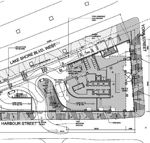 Site plan illustration showing Ten York condo tower location
